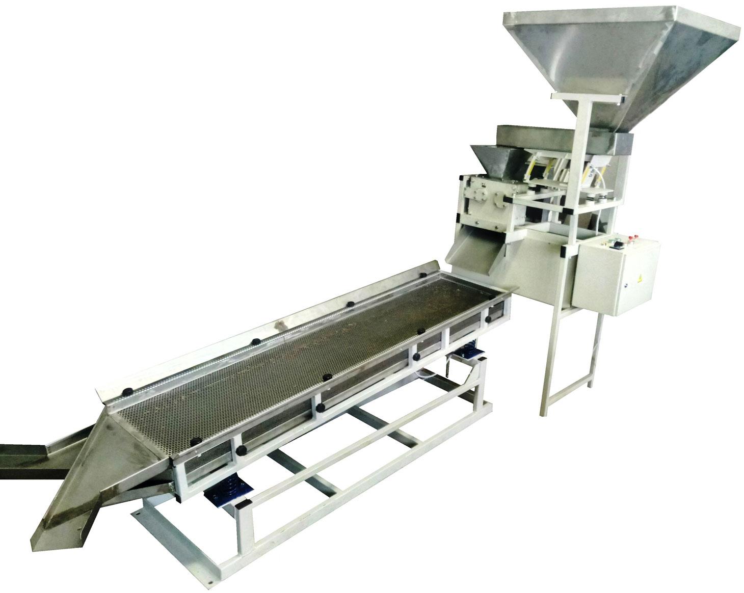 Дробильно-резательная машина (дисковая дробилка) для дробления пищевых продуктов на разные фракции от 1 мм и более.