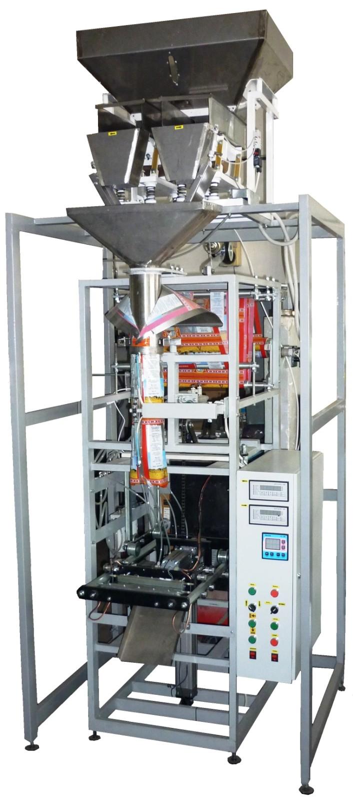 Фасовочный автомат кареточного типа с весовым дозатором