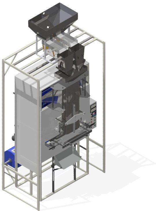 Фасовочный автомат тракового типа «TITAN», упаковка от 3 до 25 кг