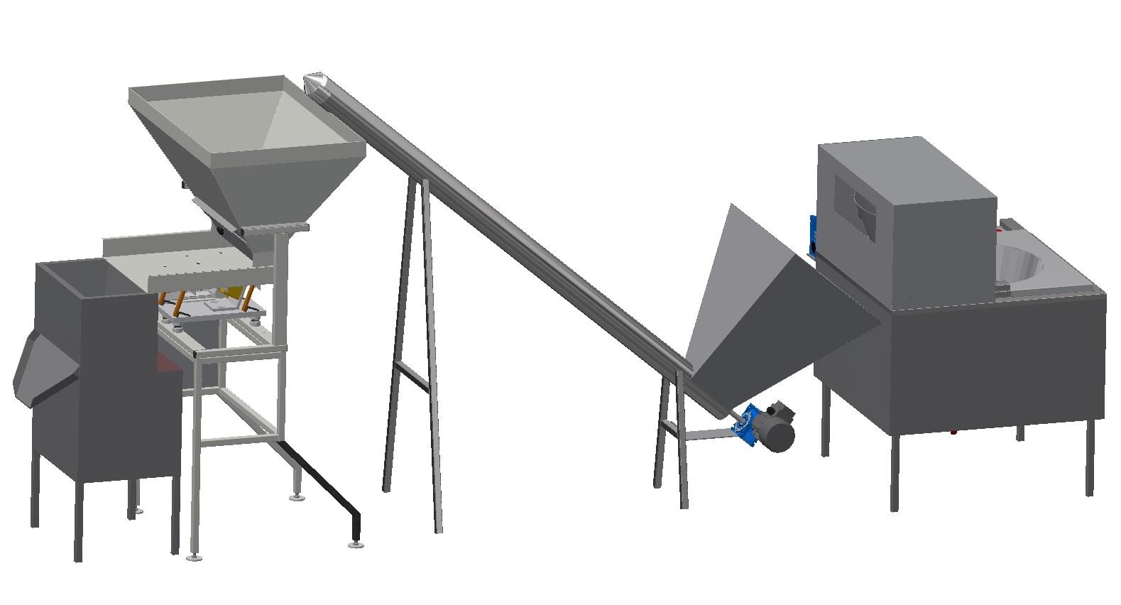Комплекс оборудования бланшировки ореха