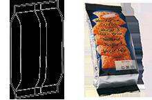 Трех шовный пакет-подушка с подвернутыми краями