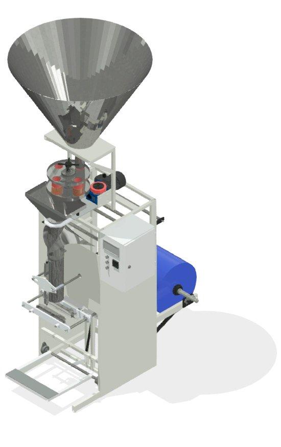 Упаковочный полуавтомат с объемным дозатором